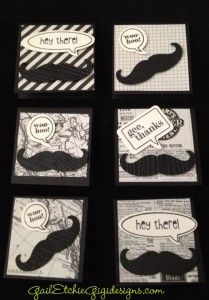These ar the samples of the masculine cards you will be making