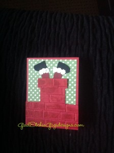 Brick fireplace santa entering w